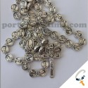 Ten beads rosary-wood-  missionary 6mm beige pf339A1